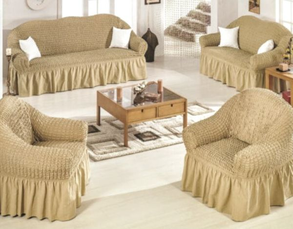 Color Sofas Covers Set Turkish Model 4 Pieces Consist Of 1 Sofa