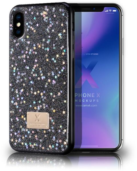 best loved d8c64 76e70 WK DESIGN Series for for iPhone X (2017)and iPhone XS (2018) , Luxury  Glitter Starry Sky Sparkle Pattern Clear Design Printed Plastic Back Case  Cover ...