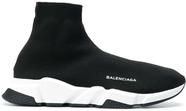 a81c0420bd76 Balenciaga Speed Trainer Sock sneakers shoes BLACK white For Unisex ...