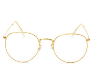 bccc8948580 Retro Fashion Round Metal Frame Eyeglass Frame for Men Woman Gold color