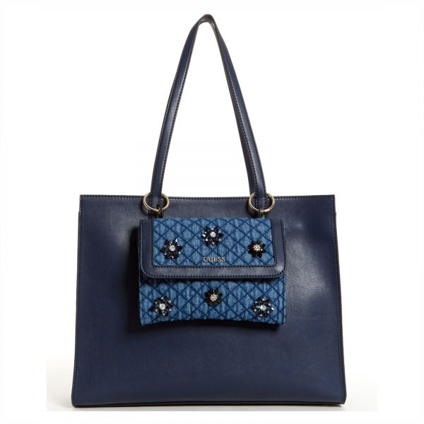 3fa22a9370fe Guess Tote Bag for Women - Navy