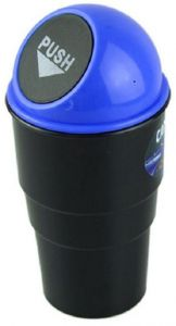 Mini Trash Can With Lid For Car Cup Holder Washable Automotive