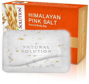 WBM Natural Solution 8323 Himalayan Pink Salt Face and Body Bar Oatmeal (5.2 OZ/ 150 g), Crafted with love in Harmony with Nature, 100% Natural Vegetable ...