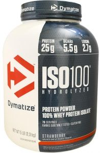 Dymatize Nutrition ISO100 Hydrolyzed Whey Protein Isolate Strawberry 5 Lbs 23 Kg
