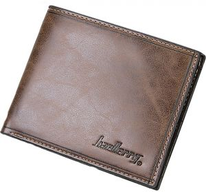 Vintage Men's Casual Short Pu Leather Bifold Wallet Multi Cards Holder Purse Money Clip-Dark Coffee