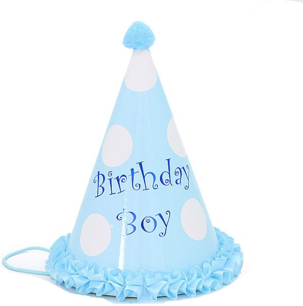 Polka Dots Happy Birthday Festival Decorations Stripped Hat Paper