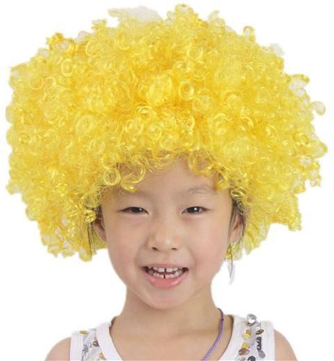 yellow Wig Head Sets Small Curly Hairg Head