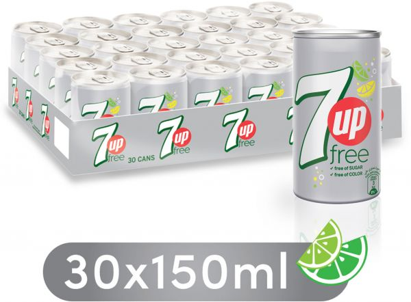 7up Free Carbonated Soft Drink Mini Cans 30 X 150 Ml Souq Uae