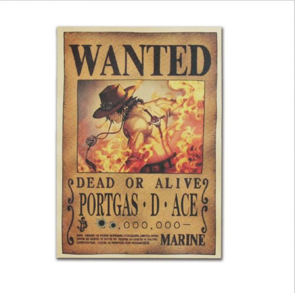 anime one piece pirates wanted posters ace poster home decor wall