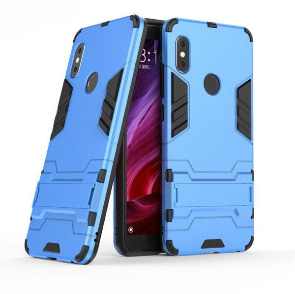 the latest 497af c7af8 Xiaomi Redmi Note 5 AI Edition Or Xiaomi Redmi Note 5 Pro Armor Hard PC  soft Silicone Case with Stand - Sky Blue