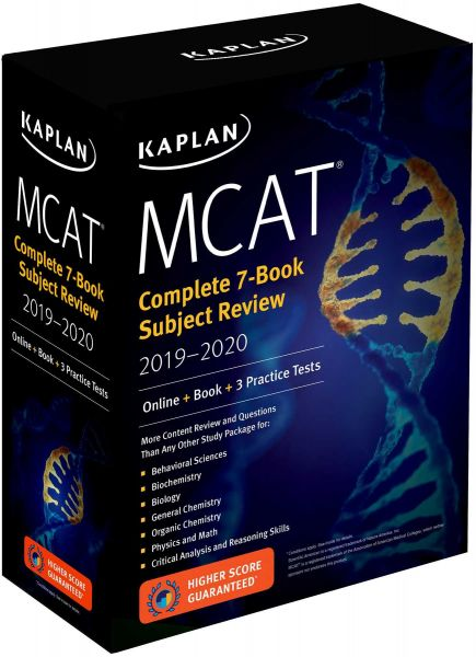 MCAT Complete 7 Book Subject Review 2019 2020 Online 3 Practice Tests Kaplan Test Prep