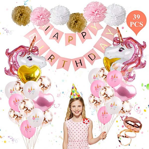 Colorful Cute Unicorn Balloons Birthday Party Decorations