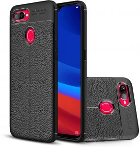 OPPO F9 / F9 Pro Ultra-Slim Shockproof Soft TPU Case Cover - Black