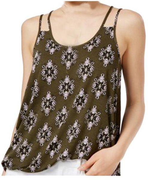 a871beebdc854 Hippie Rose Multi Color Round Neck Tank Top For Women
