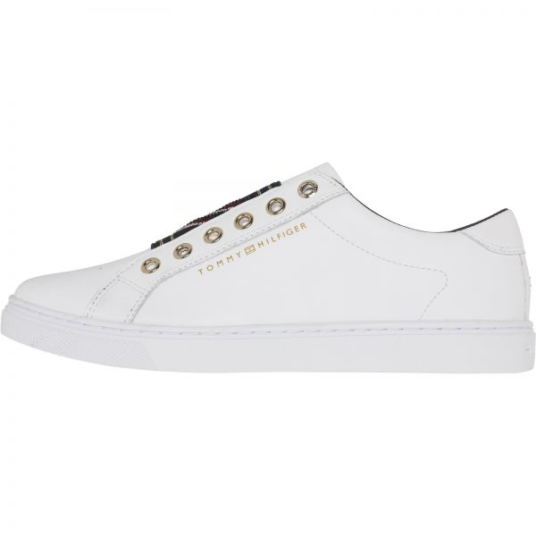 15703a590ee72 Tommy Hilfiger White Fashion Sneakers For Women