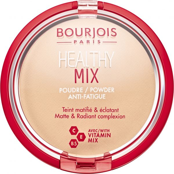 Bourjois Healthy Mix Powder Anti-Fatigue Face Powder, 01 Vanilla - 11 gm