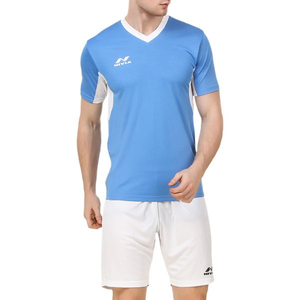 Nivia Encounter Football Jersey Set for Men - Blue and White 683d46bc8