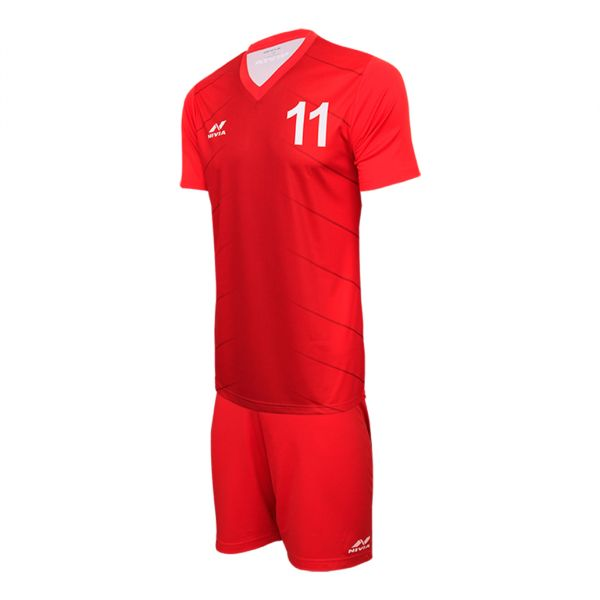 Nivia Encounter Sublimation Football Jersey Set for Men - Red 0b83568f1