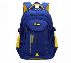 f630f43570 The large capacity of primary and secondary schools boys and girls backpack  waterproof wear-resisting During the children schoolbag sapphire blue