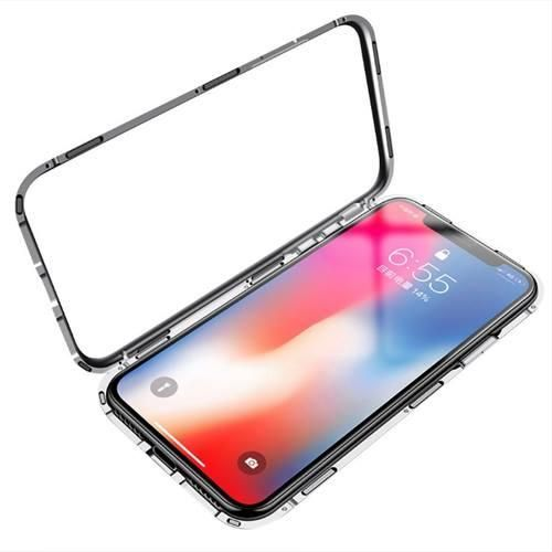 3e9503f59b2 iphone 7 / 8 Case 360 Degree full cover 2 pieces metal frame Magnetic  tempered glass back Case - Black | Souq - Egypt