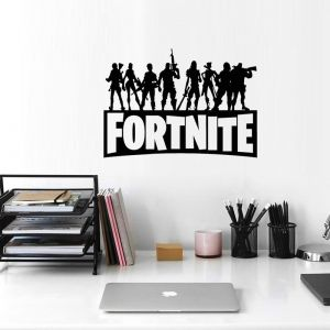 Black Fortress Night Fortnite Game Wall Stickers Game Characters Metallic Effect View Home Devor Wall Decal Removable Home Design Wallpaper Poster