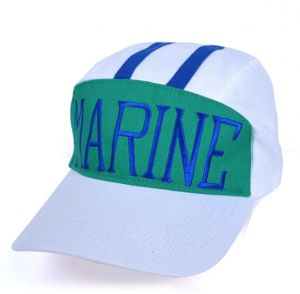 White Embroidery MARINE Hat Sakazuki Cos baseball cap Adjustable cotton  Snapback hat JK For Unisex 90decb6b28b8