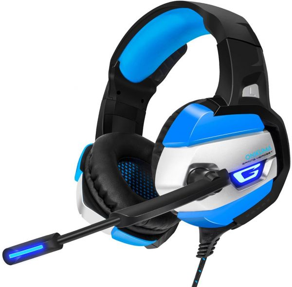 Gaming Headset for PS4, Xbox One, Nintendo Switch, PC  Over Ear Gaming  Headset with 7 1 Stereo Surround Sound, LED Lights, Noise Canceling and
