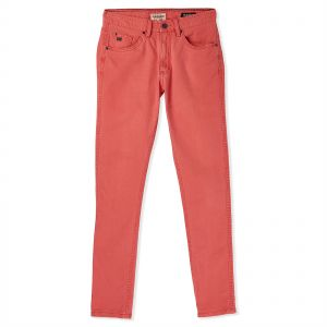 Pull   Bear Slim Fit Jeans for Women - Pastel Red 929731276b9