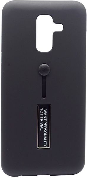 low priced 5a1f4 a4d98 Back Cover By Ineix Hand Holder For Samsung Galaxy J8 2018 - Black