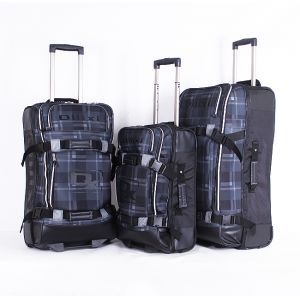 Dilixi Soft Case Luggage Set of 3 Pieces with Wheels , Black , 1745 ebc2ae00d3
