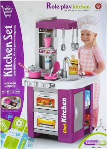 Children Electronic Pretend Toy Kitchen Role Play Set Violet Buy