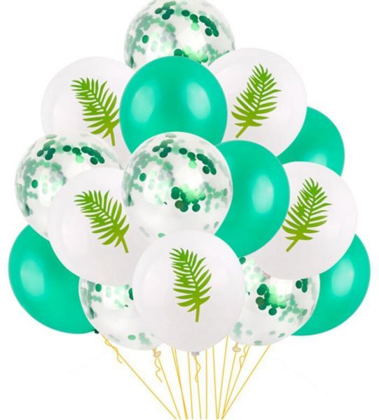 15Pcs Latex Confetti Balloon Leaf Baloon Unicorn Birthday Party Decor Mermaid Ballon Supplies