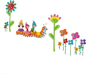 0e43c08dc Wall Stickers Flowers Wall Sticker Set Cartoon caterpillar Wall Decal Baby  Nursery Home Decor Art available in 8 Sizes XX-Large Digital
