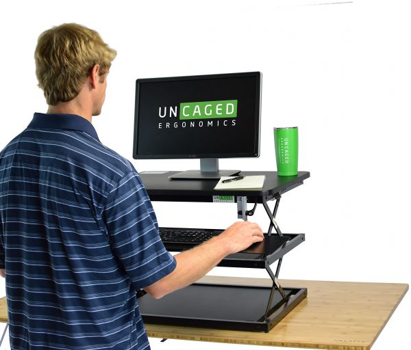 Changedesk Tall Ergonomic Laptop Desktop Standing Desk Conversion Height Adjule Keyboard Tray Easy Sit To Stand Up Computer Riser