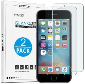 OMOTON iPhone 6/6s Screen Protector, Tempered Glass Screen Protector with (9H Hardness) (Crystal Clarity) (Scratch Resistant) (Bubble Free) for Apple iPhone ...