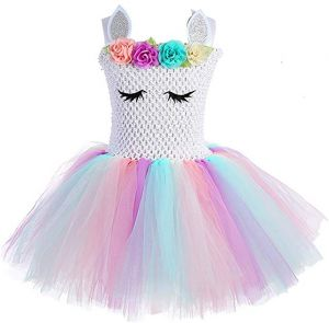 99addd492c4 Children Girls Rainbow Unicorn Tutu Dress Princess Fancy Dress Birthday  Pageant Party Dresses Girls Christmas Halloween Pony Cosplay Costume for Baby  Girls ...