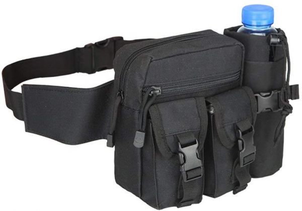 86da3f995fcc Waist Bag Sports Waterproof Waist Pack with Water Bottle Pocket Holder  Running Belt Pouch Fanny Pack for Hiking Cycling Camping Climbing Travel