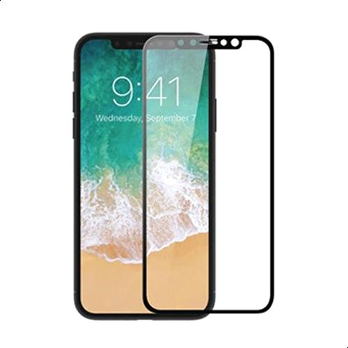Tempered Glass Screen Protector For iPhone X - Clear and Black