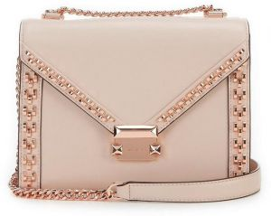 37046575b0 MICHAEL Michael Kors Whitney Studded Frame Shoulder Bag - Soft Pink