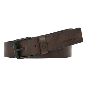 Calvin Klein Leather Belt For Men Brown 100 Cm