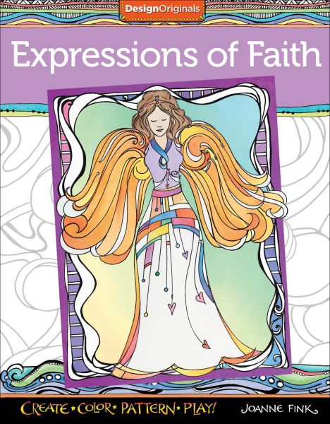 Expressions Of Faith Coloring Book Create Color Pattern Play