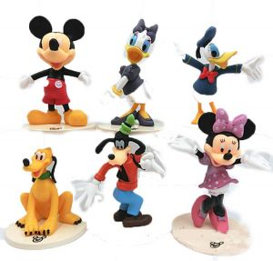 35a68659 Cute action figures playsets Mickey Minnie Donald Duck Gao Fei Daixi Action  Toys