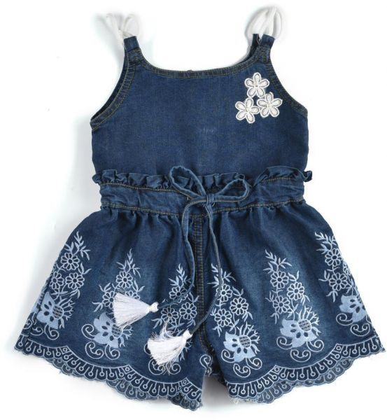 183bb1a194e6 Little Kangaroos Girls Denim Jumpsuit