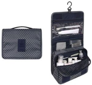 1500fe4c6 dark blue star portable waterproof cosmetic makeup toiletry travel hanging  organizer storage bag pouch-s