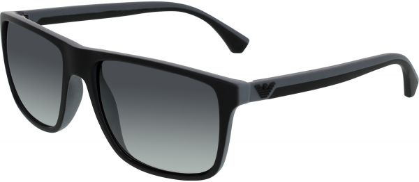 6d505bf13f Emporio Armani Men s Gradient EA4033-5229T3-56 Black Square Sunglasses