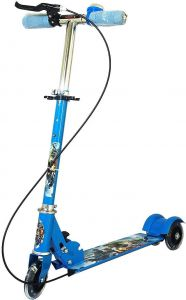d848ad120fe Kids Folding 3 Wheeler Cycle Height Adjustable with Hand break and Bell -  Blue