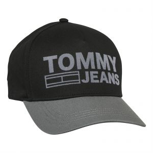 98dd98631e3 Tommy Hilfiger Unisex Baseball Cap - Grey and Black
