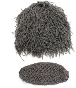 buy online 66754 9f4cf Wigs Fake Beard Style Warm Hat Exaggerated Wild Knitting Cap Wool Cap  Unisex for Kids mm