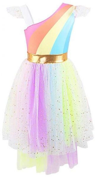 6f1cc98878 Rainbow Girls Unicorn Tutu Dress Cute Princess Fancy Dress Birthday Pageant  Party Dresses Girls Christmas Halloween Pony Dreams Princess for Baby Girls  ...