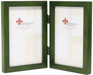 Buy 4x6 Hinged Double Horizontal Green Wood Picture Frame Gallery